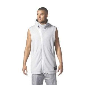 adidas Harden Mens Sleeveless Grey Basketball Vest